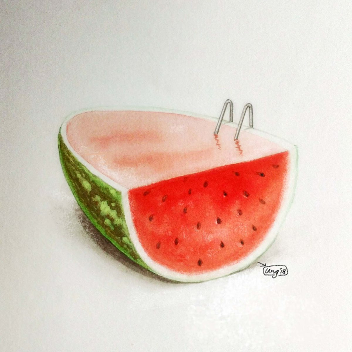 Ideation: Mengupas (imaji) Semangka